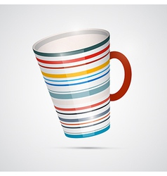 Cup Isolated on White Background vector image vector image