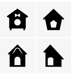 Dog Houses vector image