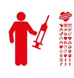 drug dealer icon with valentine bonus vector image