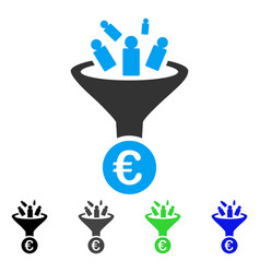 Euro sale conversion flat icon vector