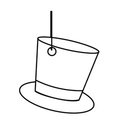 Figure elegant hanging hat icon vector