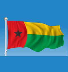 Flag of guinea-bissau vector