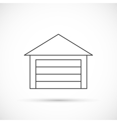 Garage outline icon vector image vector image