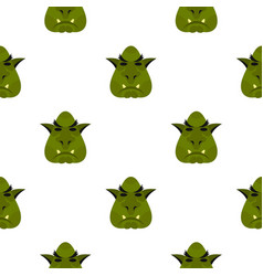 Head of troll pattern flat vector