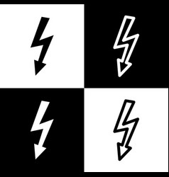 High voltage danger sign black and white vector