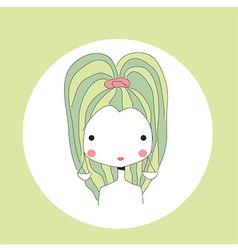 Horoscope Libra sign girl head vector image