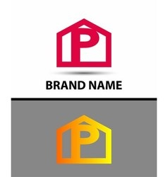 Letter p logo icon vector