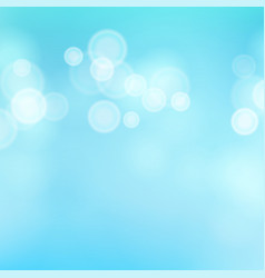 Light blue background water summer bokeh vector