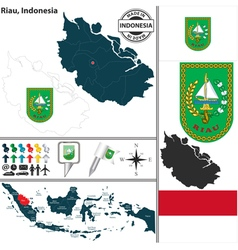 Map of Riau vector image