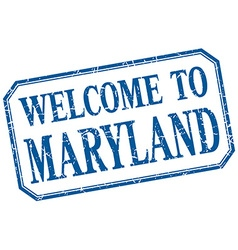 Maryland - welcome blue vintage isolated label vector