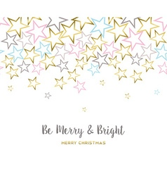 Merry christmas design with gold star decoration vector image vector image