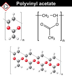 Polyvinyl acetate polymer chemical structure vector