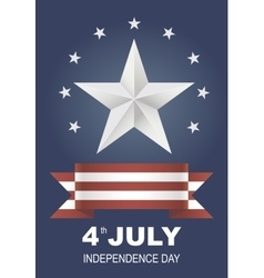 Postcard for independence day holiday in america vector
