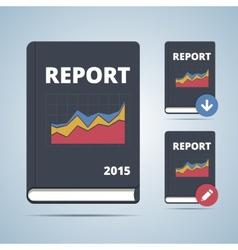 Report icon book vector
