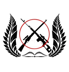 Sniper rifles vector