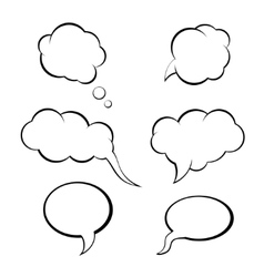 Speech bubbles set think bubble vector