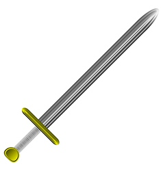 steel sword on white vector image