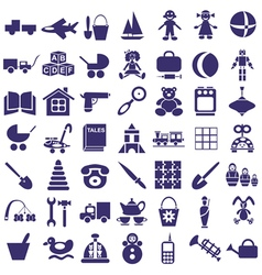 Toys icons on white vector