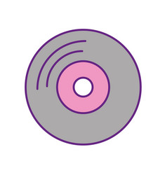 vinyl old music icon vector image vector image