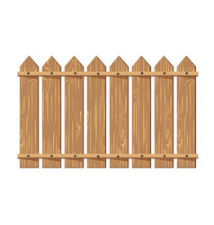 Wooden fence isolated on white vector