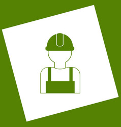 Worker sign white icon obtained as a vector