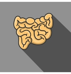 A small intestine eps vector