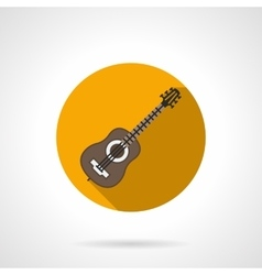 Music blog flat color round icon vector