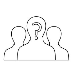 Group of business people icon outline style vector