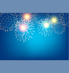 Golden firework on blue background for vector