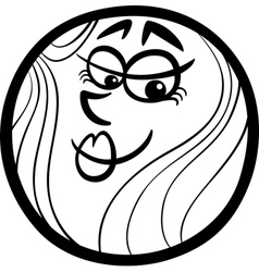 Venus planet cartoon coloring page vector
