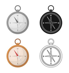 Compass icon in cartoon style isolated on white vector