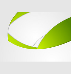 Green and grey corporate waves background vector