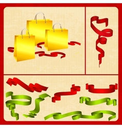 Festive set packing tape plus vector