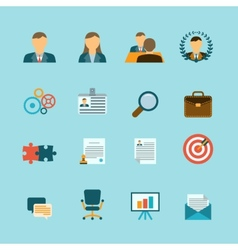 Human resources flat icons set vector