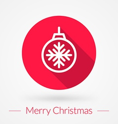 Christmas greeting card background in flat design vector
