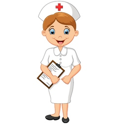 Female doctor waving hand vector