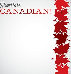 Leaf line canada day card in format vector