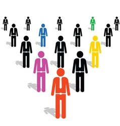 People icon in colorful vector