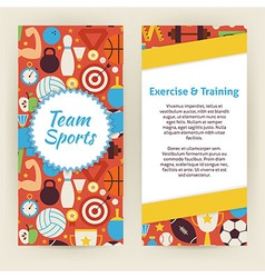 Flyer template of exercise and training sport vector
