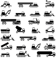 Transport silhouettes vector