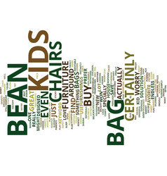 Bean bag chairs text background word cloud concept vector