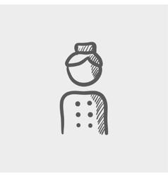 Bellboy sketch icon vector