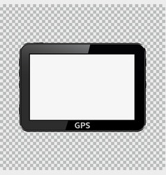 blank gps device isolated on transparent vector image vector image