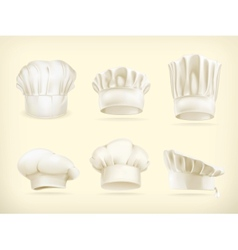 Chef hats set vector image