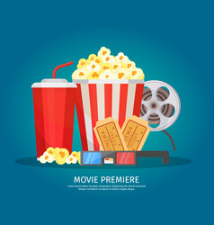 Cinema elements concept vector