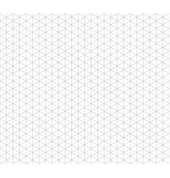 Isometric line seamless grid triangular vector