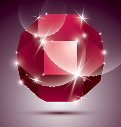 Party dimensional red sparkling disco ball vector image vector image