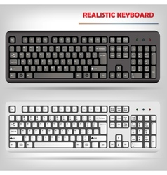 Realistic computer keyboard vector image
