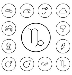 Set of 12 editable air outline icons includes vector