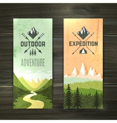 Tourism vertical banners set vector